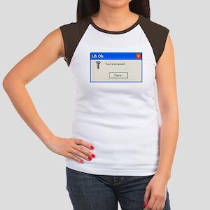 You're screwed error message Women's Cap Sleeve T-