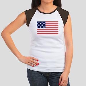 American Flag Women's Cap Sleeve T-Shirt