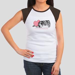 MerleB UC Holds Heart Women's Cap Sleeve T-Shirt