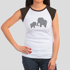 Cute Elephants Mom and Baby T-Shirt
