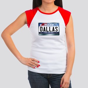 Texas License Plate [DALLAS] Women's Cap Sleeve T-