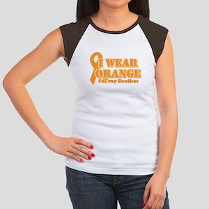 I wear orange brother Women's Cap Sleeve T-Shirt