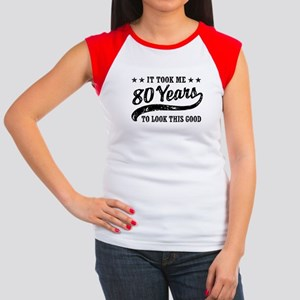 Funny 80th Birthday Women's Cap Sleeve T-Shirt
