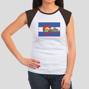 Colorado Flag Women's Cap Sleeve T-Shirt