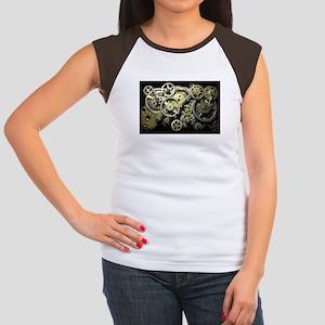 SteamPunk Gears Women's Cap Sleeve T-Shirt