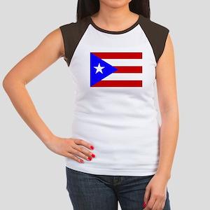 Puerto Rican Flag Women's Cap Sleeve T-Shirt