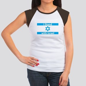I Stand with Israel - F Women's Cap Sleeve T-Shirt