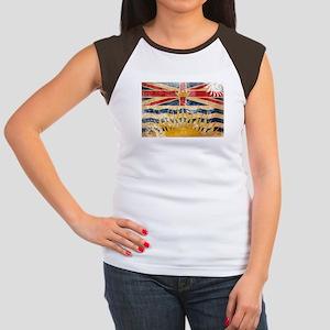 British Columbia Flag Women's Cap Sleeve T-Shirt