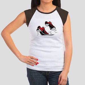 Tap Dancing Shoes Women's Cap Sleeve T-Shirt
