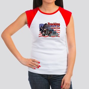 Trucking USA Women's Cap Sleeve T-Shirt