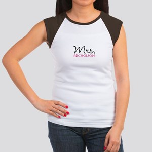 Customizable Name Mrs Junior's Cap Sleeve T-Shirt