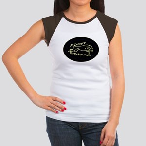 More Greyhound Logos Women's Cap Sleeve T-Shirt