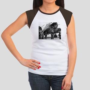 Battle Damaged B-17 Women's Cap Sleeve T-Shirt