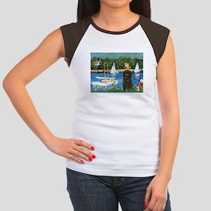 Sailboats / Affenpinscher Women's Cap Sleeve T-Shi