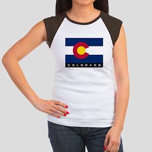 Colorado State Flag Women's Cap Sleeve T-Shirt