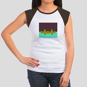 NIGHT SKY CANOE Women's Cap Sleeve T-Shirt