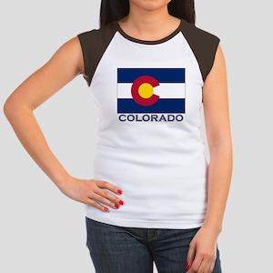 Colorado Flag Gear Women's Cap Sleeve T-Shirt