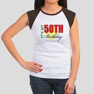 50th Birthday Party Women's Cap Sleeve T-Shirt