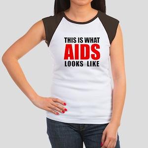 What AIDS looks like Women's Cap Sleeve T-Shirt