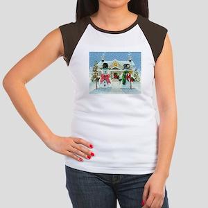 American Snowman Gothic Women's Cap Sleeve T-Shirt