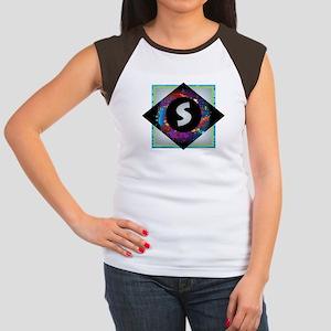 S - Letter S Monogram - Black Diamond S - T-Shirt