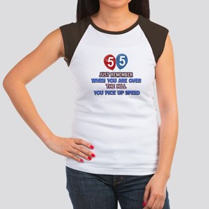55 year old designs Junior's Cap Sleeve T-Shirt