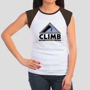 Rock Climbing Women's Cap Sleeve T-Shirt