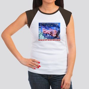 9-11 Tribute & Warning Women's Cap Sleeve T-Shirt