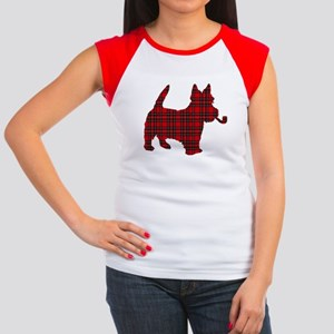 Scottish Terrier Tartan Women's Cap Sleeve T-Shirt