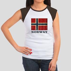 Vintage Norway Women's Cap Sleeve T-Shirt