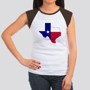 Texas Flag Map Women's Cap Sleeve T-Shirt