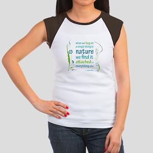 Nature Atttachment Women's Cap Sleeve T-Shirt