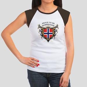 Proud to be Norwegian Women's Cap Sleeve T-Shirt