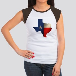State of Texas Women's Cap Sleeve T-Shirt