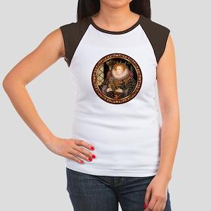 Queen / Dachshund #1 Women's Cap Sleeve T-Shirt