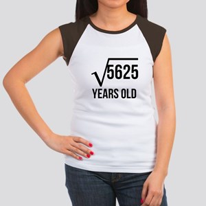 75 Years Old Square Root T-Shirt