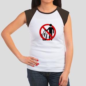 No Trashing Babies Women's Cap Sleeve T-Shirt