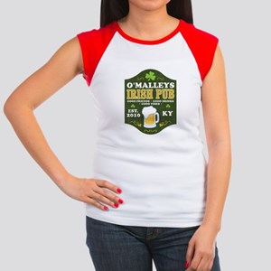 Irish Pub Personalized Junior's Cap Sleeve T-Shirt