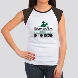 Army Home Free Braves Junior's Cap Sleeve T-Shirt
