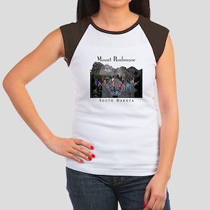 Mount Rushmore Junior's Cap Sleeve T-Shirt