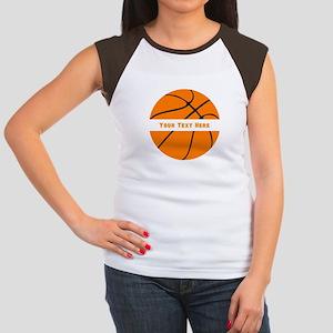 Basketball Personalize Junior's Cap Sleeve T-Shirt