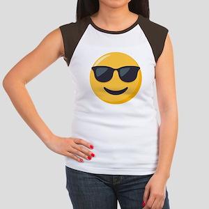 Sunglasses Emoji Junior's Cap Sleeve T-Shirt