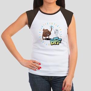Emoji Poop Toilet Pape Junior's Cap Sleeve T-Shirt