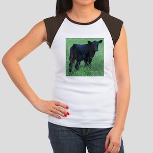 calf Women's Cap Sleeve T-Shirt