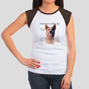 Cattle Dog (red) Junior's Cap Sleeve T-Shirt