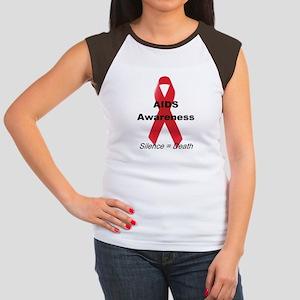 """""""AIDS Awareness"""" Women's Cap Sleeve T-Shirt"""