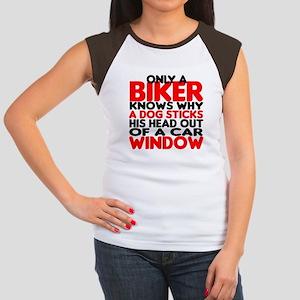 Only a Biker Women's Cap Sleeve T-Shirt
