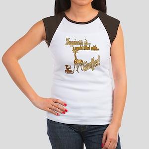 Happiness is a giraffe Women's Cap Sleeve T-Shirt