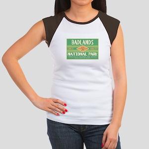 Badlands National Park (Retro) Women's Cap Sleeve