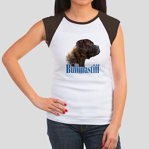 Bullmastiff(brindle)Name Women's Cap Sleeve T-Shir